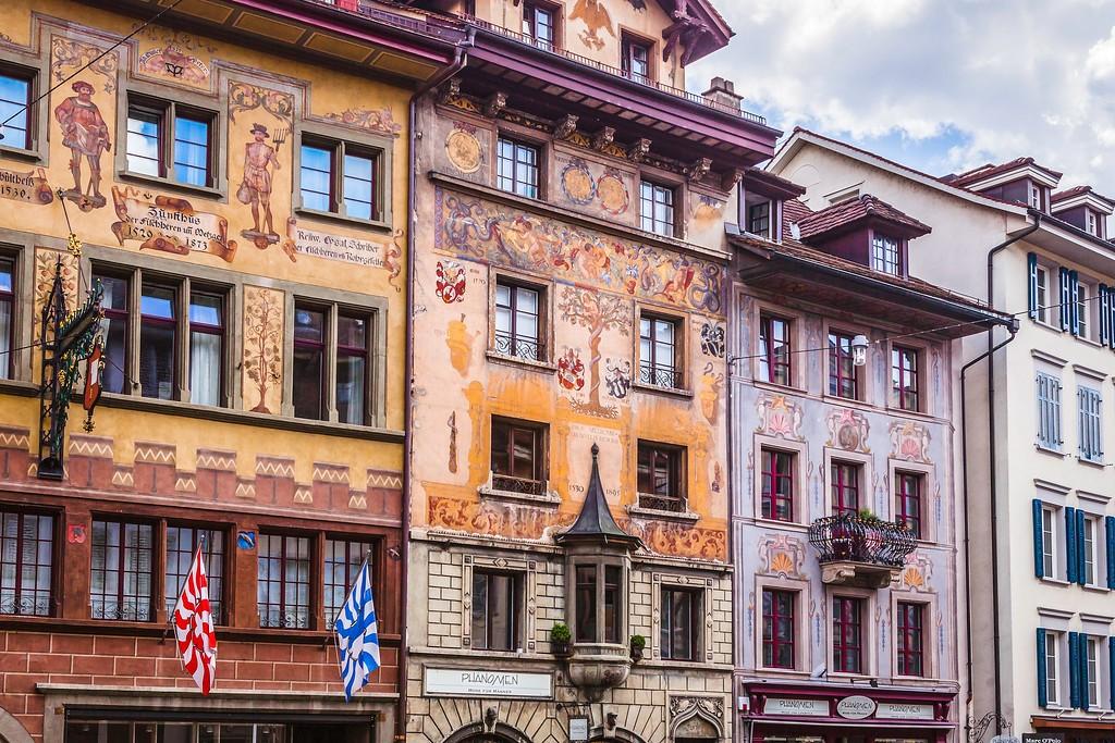 瑞士卢塞恩(Lucerne),城市壁画_图1-26