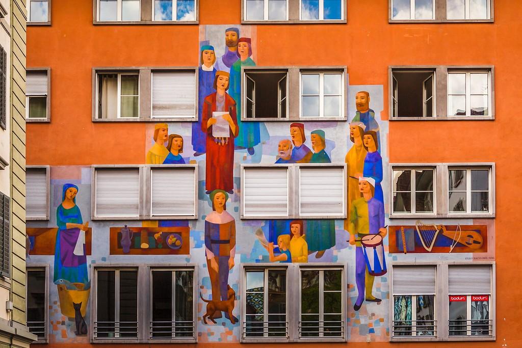 瑞士卢塞恩(Lucerne),城市壁画_图1-27