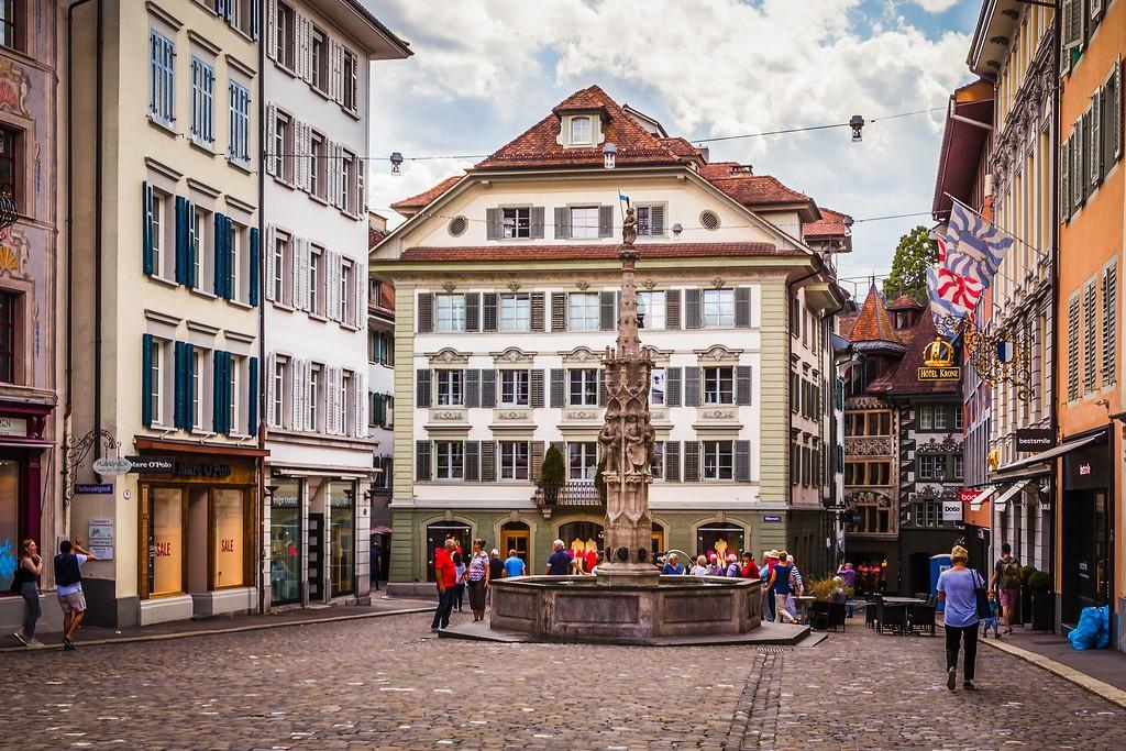 瑞士卢塞恩(Lucerne),城市壁画_图1-28