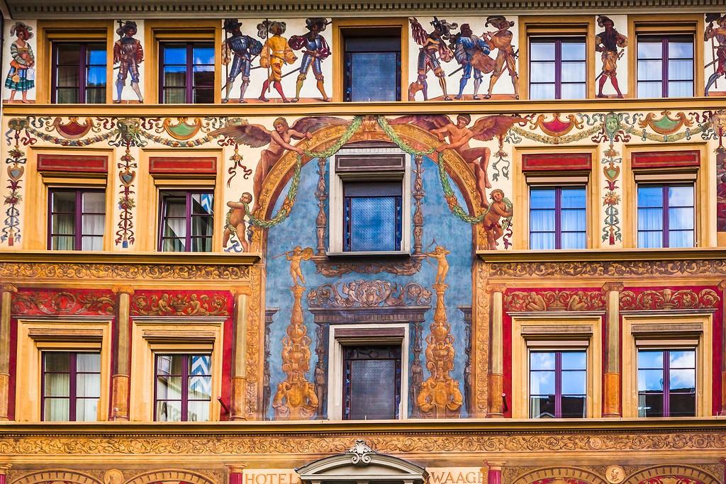 瑞士卢塞恩(Lucerne),城市壁画_图1-30