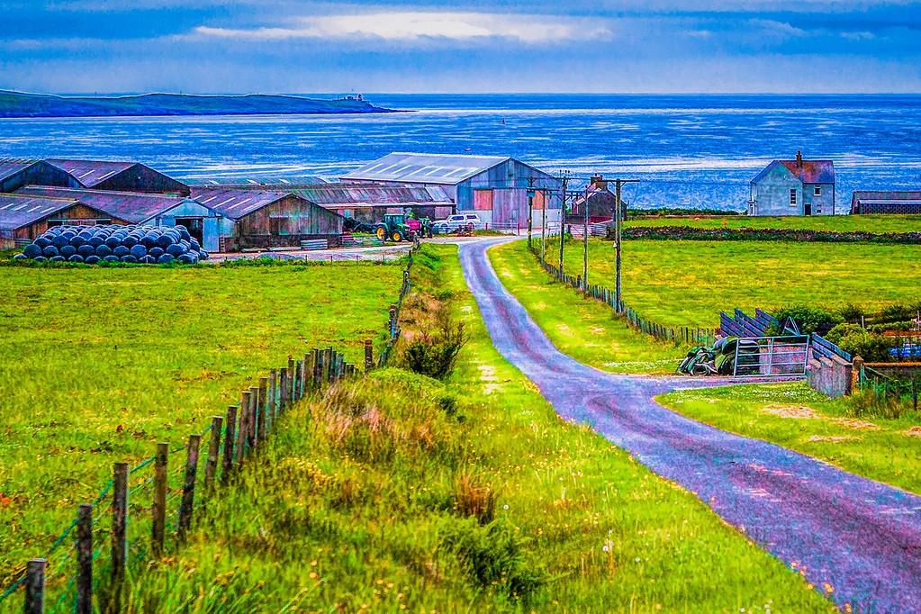 苏格兰奥克尼岛(Orkney Islands),沿路风景_图1-6