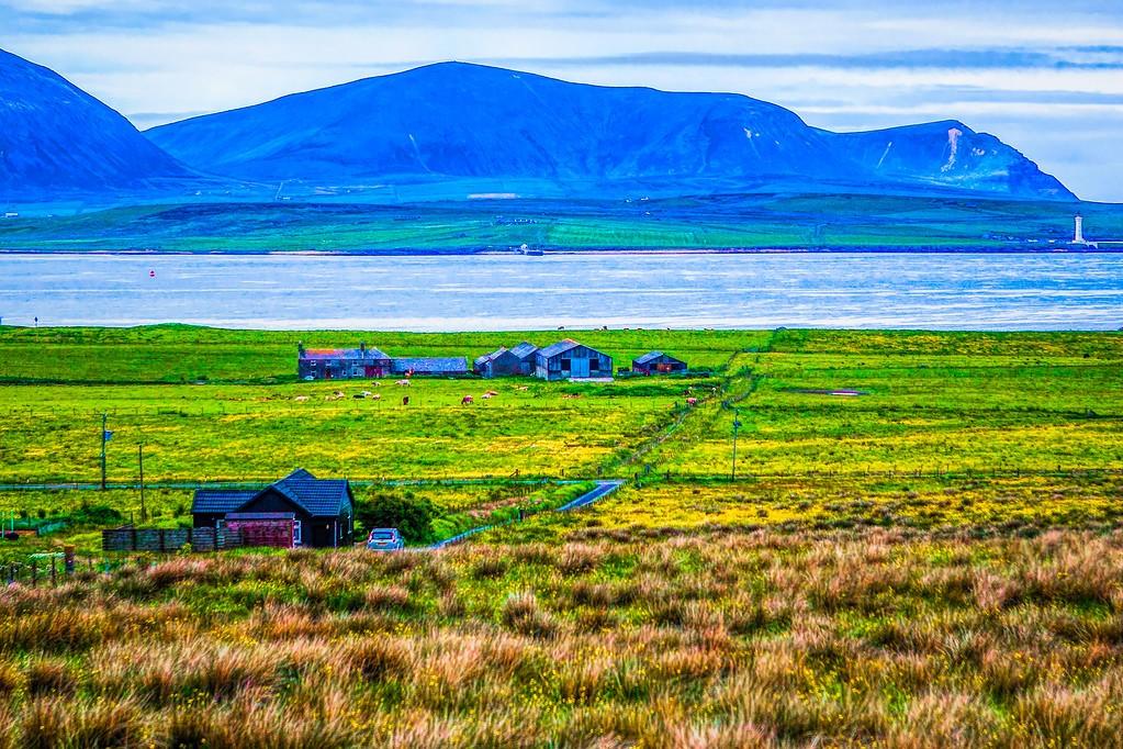 苏格兰奥克尼岛(Orkney Islands),沿路风景_图1-4