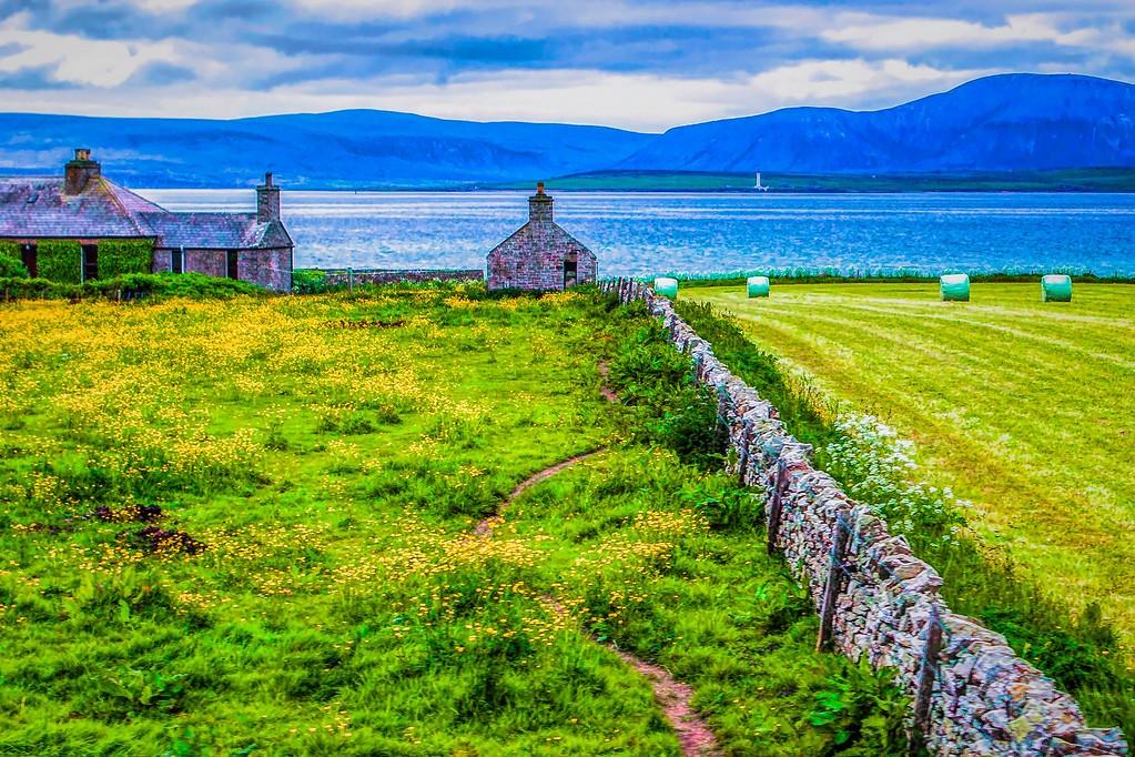 苏格兰奥克尼岛(Orkney Islands),沿路风景_图1-2