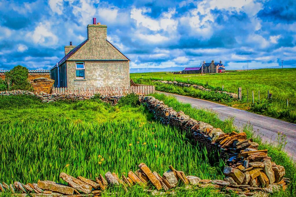 苏格兰奥克尼岛(Orkney Islands),沿路风景_图1-16