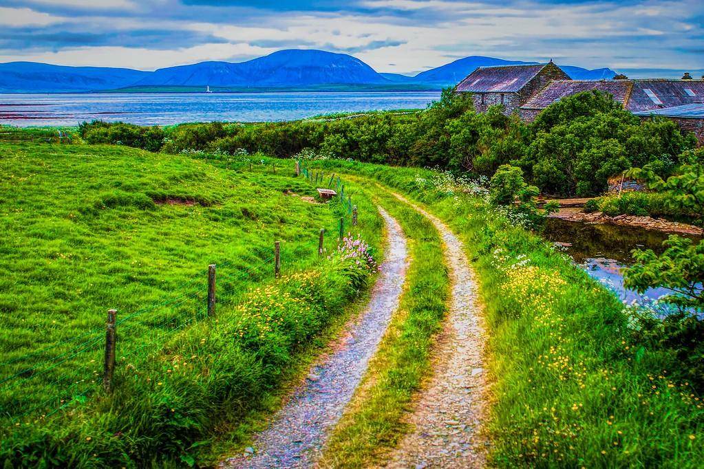 苏格兰奥克尼岛(Orkney Islands),沿路风景_图1-23