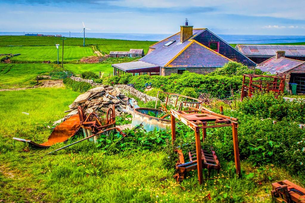 苏格兰奥克尼岛(Orkney Islands),沿路风景_图1-24