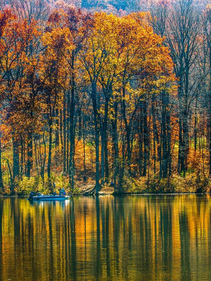 宾州 French Creek State Park,秋影秋色_图1-4