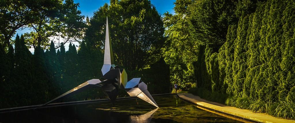 新泽西州雕塑公园(Grounds for scuplture),无声对话_图1-2