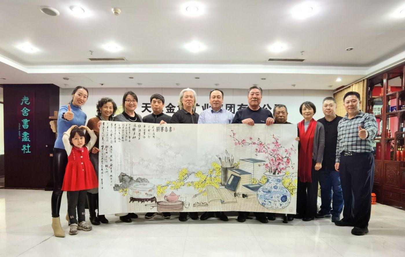 """""""迎春纳福""""书画创作笔会在北京老舍书画社举办_图1-1"""