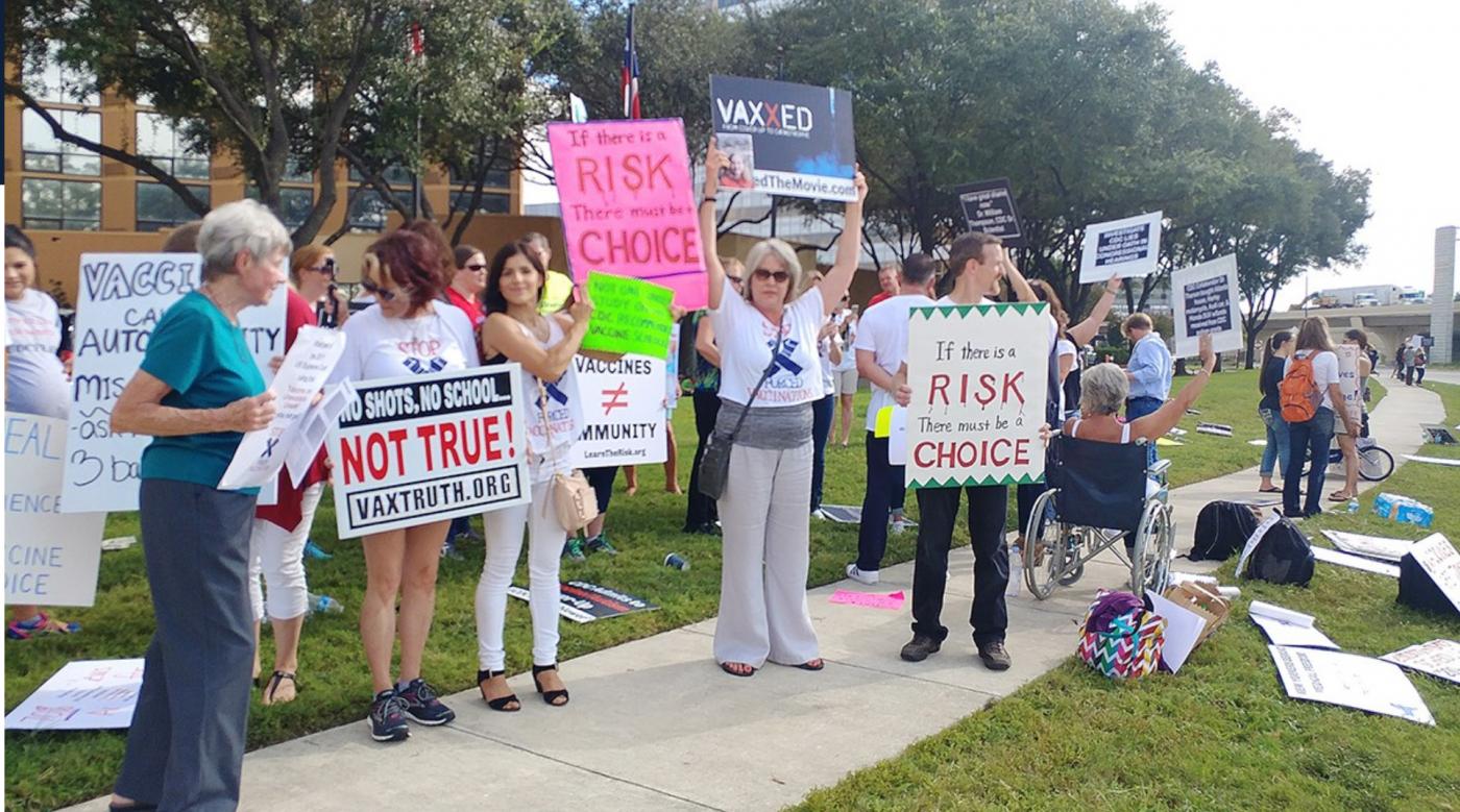 美国奇景:他们为什么示威抵制疫苗_图1-1
