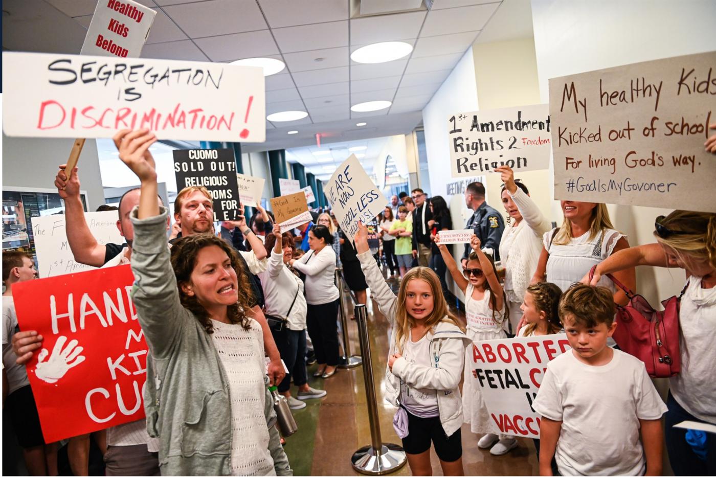 美国奇景:他们为什么示威抵制疫苗_图1-2