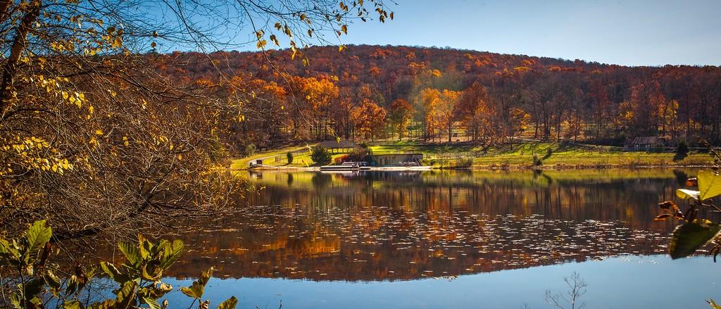 宾州 French Creek State Park,水中秋色_图1-4