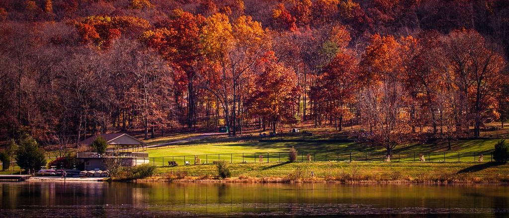 宾州 French Creek State Park,水中秋色_图1-5