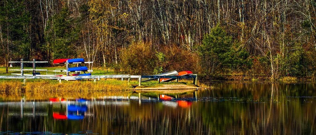 宾州 French Creek State Park,水中秋色_图1-3
