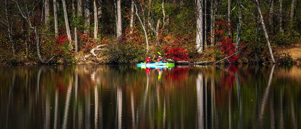 宾州 French Creek State Park,水中秋色_图1-6