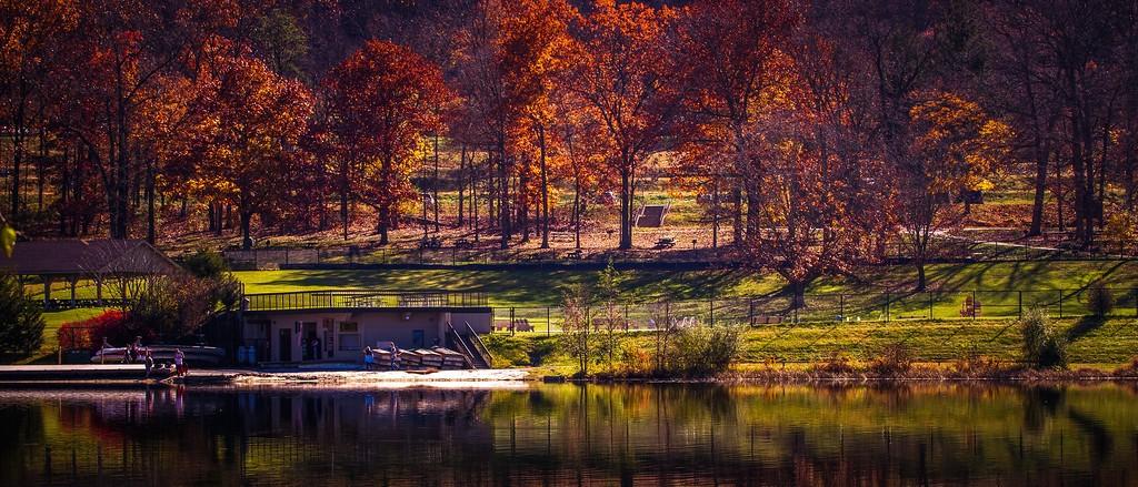 宾州 French Creek State Park,水中秋色_图1-7
