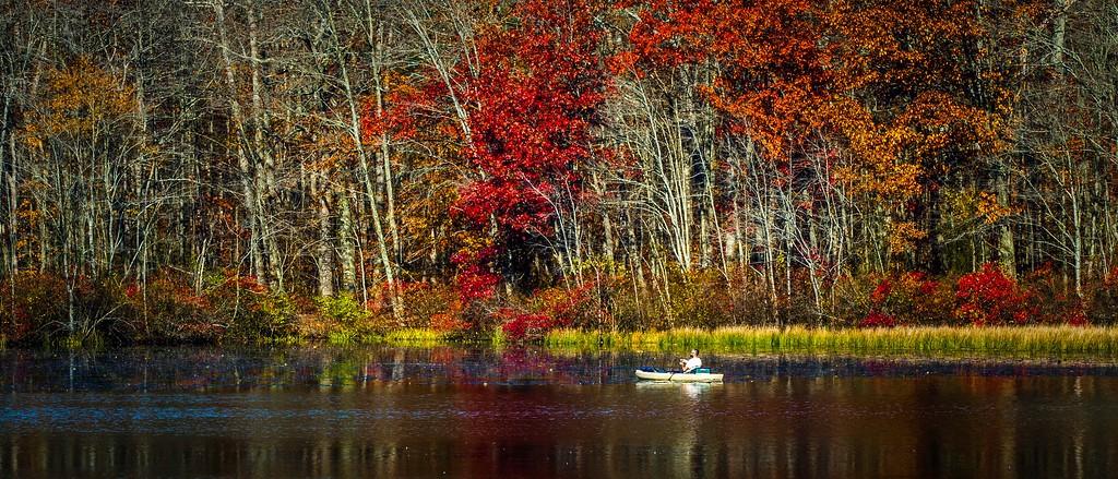 宾州 French Creek State Park,水中秋色_图1-12