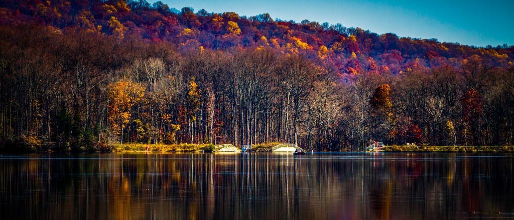 宾州 French Creek State Park,水中秋色_图1-11