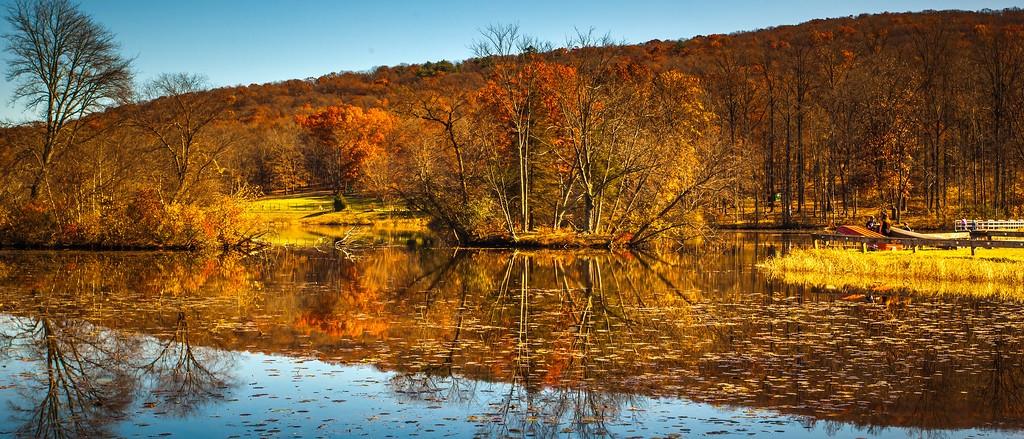 宾州 French Creek State Park,水中秋色_图1-15