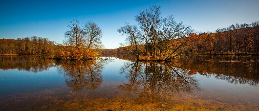 宾州 French Creek State Park,水中秋色_图1-14