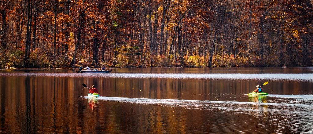 宾州 French Creek State Park,水中秋色_图1-16