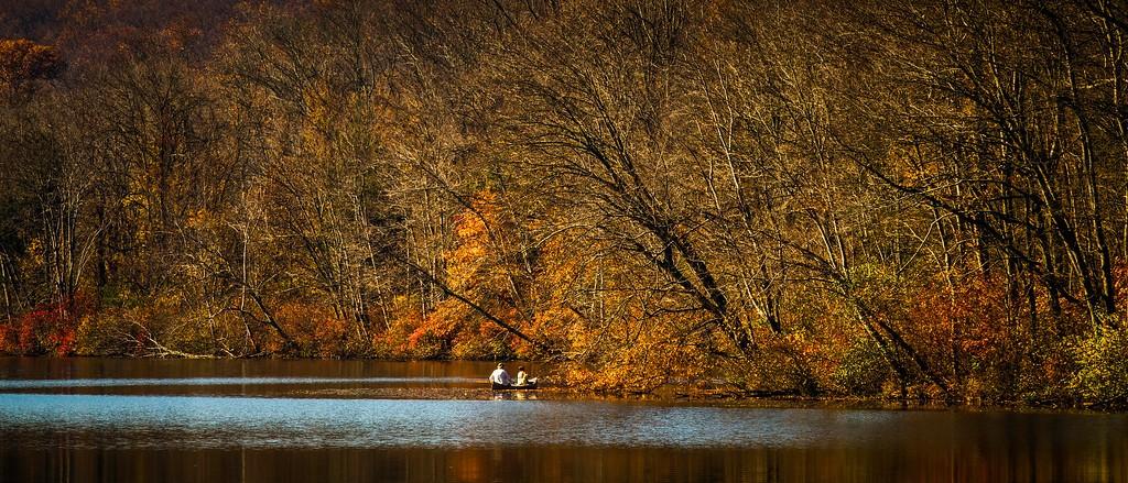 宾州 French Creek State Park,水中秋色_图1-20