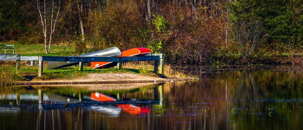 宾州 French Creek State Park,水中秋色_图1-21