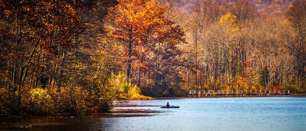 宾州 French Creek State Park,水中秋色_图1-17