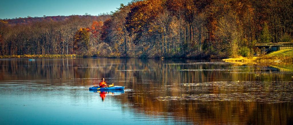 宾州 French Creek State Park,水中秋色_图1-22