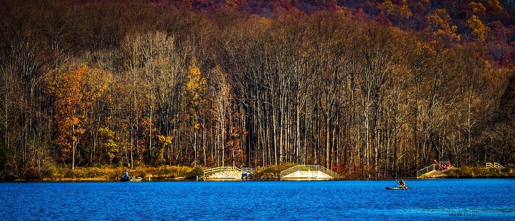 宾州 French Creek State Park,水中秋色_图1-18