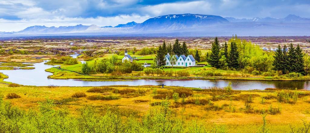 冰岛辛格韦德利国家公园,高处眺望_图1-1