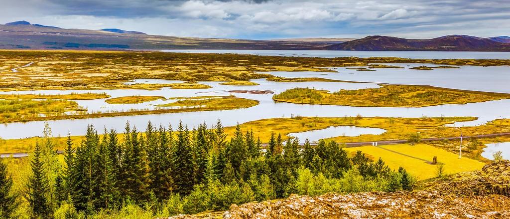 冰岛辛格韦德利国家公园,高处眺望_图1-6