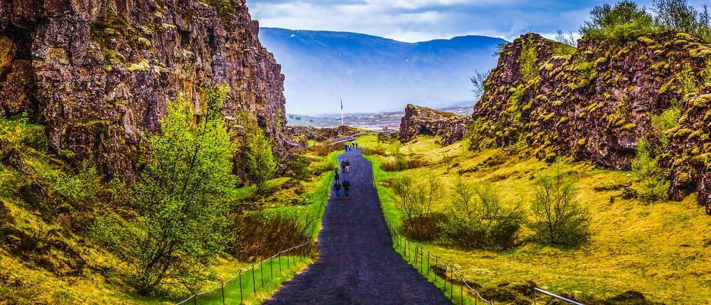 冰岛辛格韦德利国家公园,高处眺望_图1-19
