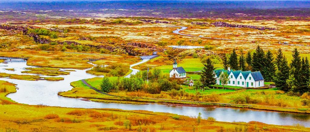 冰岛辛格韦德利国家公园,高处眺望_图1-16
