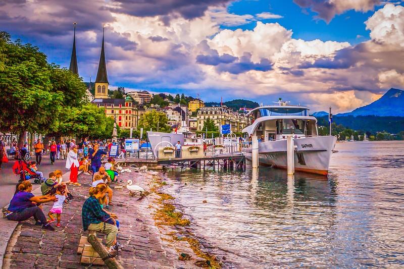瑞士卢塞恩(Lucerne),岸边即景_图1-32