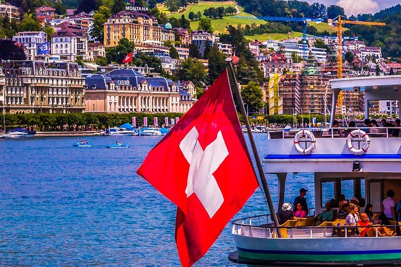 瑞士卢塞恩(Lucerne),岸边即景_图1-34