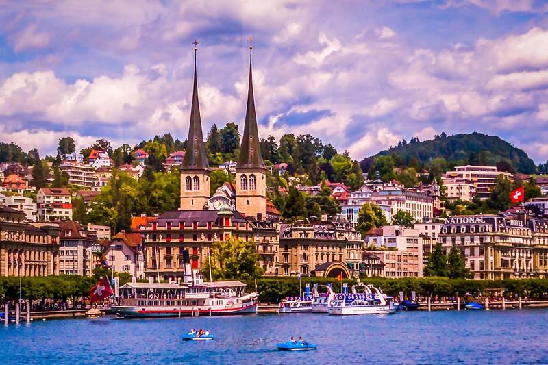 瑞士卢塞恩(Lucerne),岸边即景_图1-33