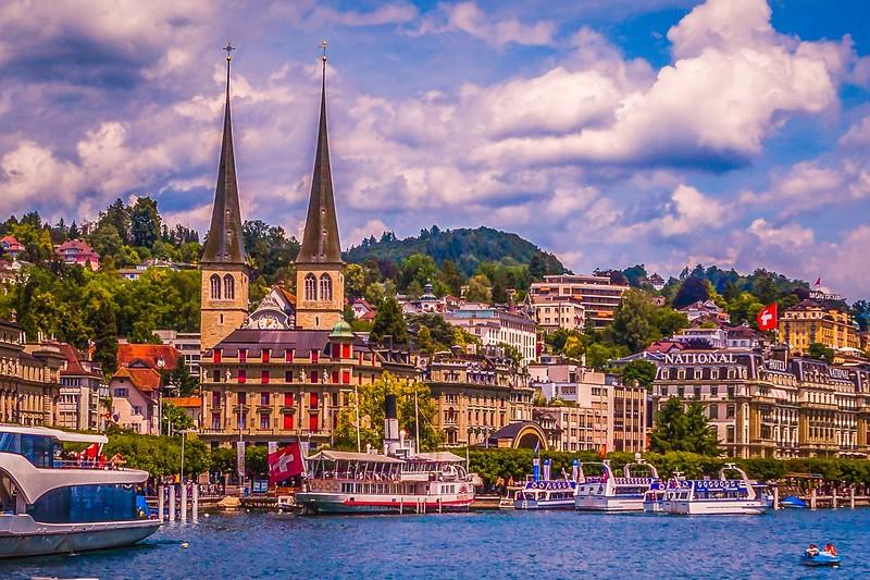 瑞士卢塞恩(Lucerne),岸边即景_图1-30