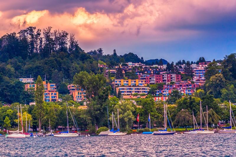 瑞士卢塞恩(Lucerne),岸边即景_图1-36