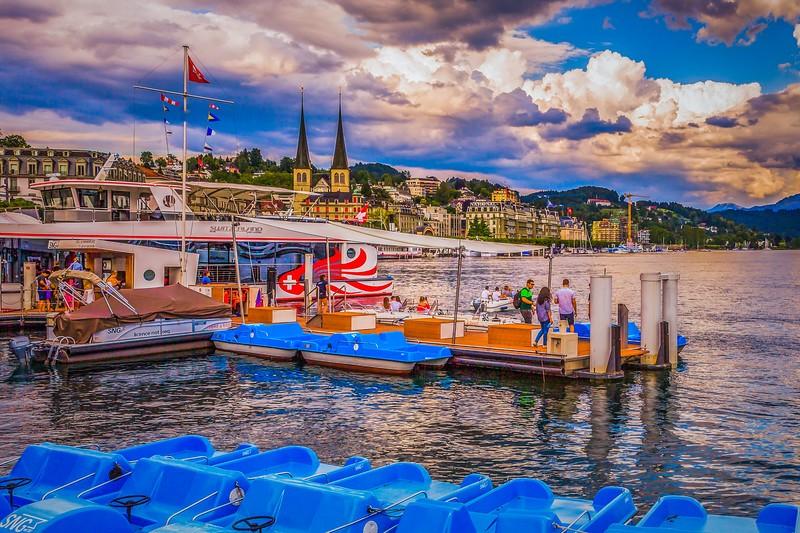 瑞士卢塞恩(Lucerne),岸边即景_图1-31