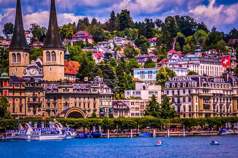 瑞士卢塞恩(Lucerne),岸边即景_图1-23