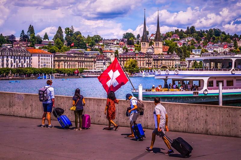 瑞士卢塞恩(Lucerne),岸边即景_图1-16