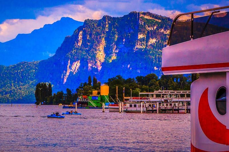 瑞士卢塞恩(Lucerne),岸边即景_图1-14