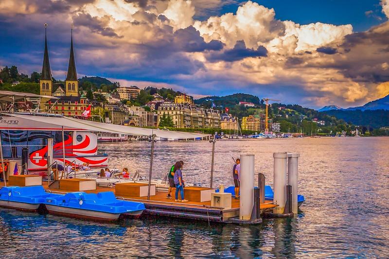 瑞士卢塞恩(Lucerne),岸边即景_图1-12