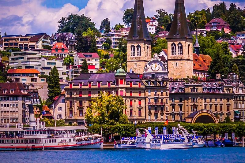 瑞士卢塞恩(Lucerne),岸边即景_图1-6
