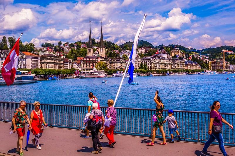 瑞士卢塞恩(Lucerne),岸边即景_图1-37