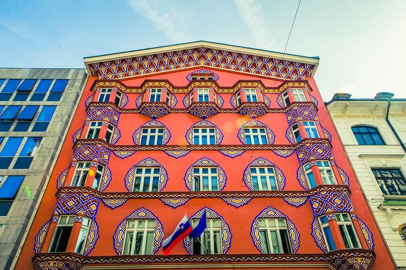 斯洛文尼亚首都卢布尔雅那(Ljubljana),特色建筑_图1-1