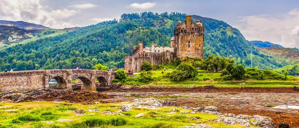 苏格兰艾琳多南城堡(Eilean Donan castle),远眺英姿_图1-4
