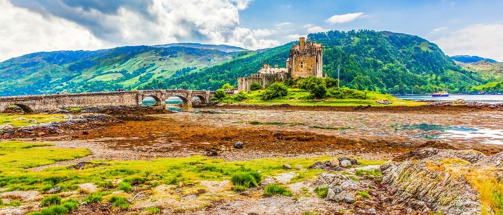 苏格兰艾琳多南城堡(Eilean Donan castle),远眺英姿_图1-5