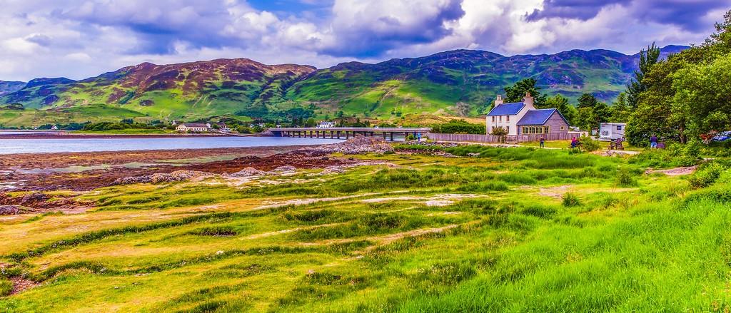 苏格兰艾琳多南城堡(Eilean Donan castle),远眺英姿_图1-2